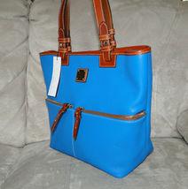 Dooney & Bourke Pebble Leather Convertible Shopper ICE BLUE image 3