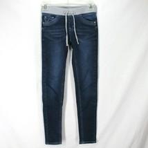 Justice Knit Waist Jegging Girls Sz 12 Slim Stretch Cotton Denim Pull On... - $12.99