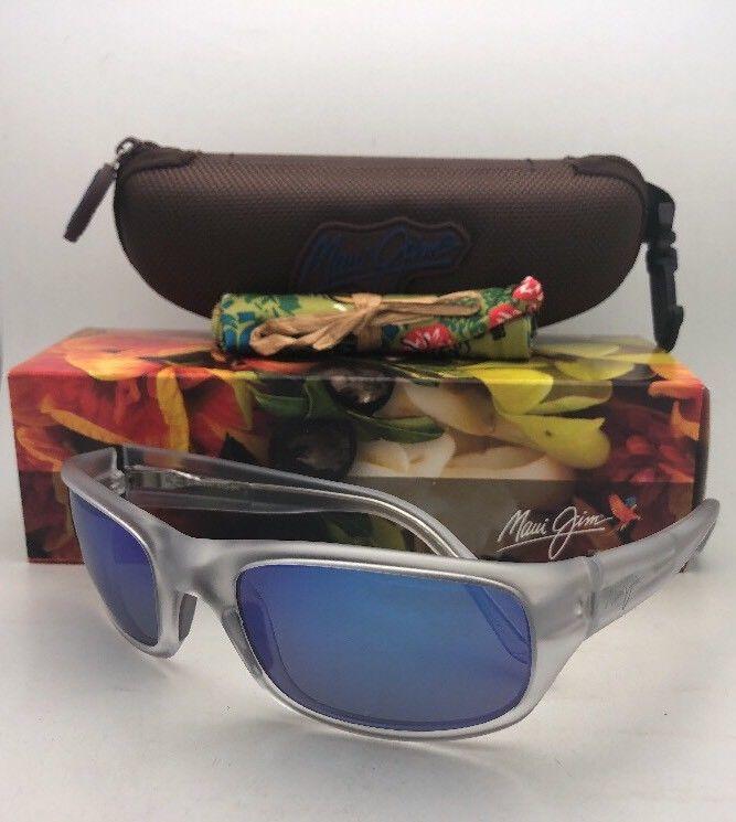 095b646bec7c5 ... Polarized MAUI JIM Sunglasses STINGRAY MJ 103-05CM Matte Crystal w   Blue Hawaii ...