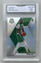 2019 Panini Mosaic Tacko Fall Silver Prizm RC Rookie #244 GMA GEM Mint 10 - $19.79