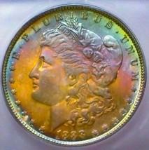 1888 MS65+++  MORGAN SILVER DOLLAR  * GORGOUS TONING. LOOKS HIGHER GRADE . - $249.90