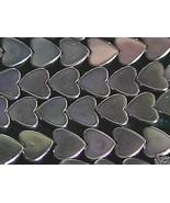 6mm Hematite Flat Heart Beads (70+ beads per strand) - $3.26