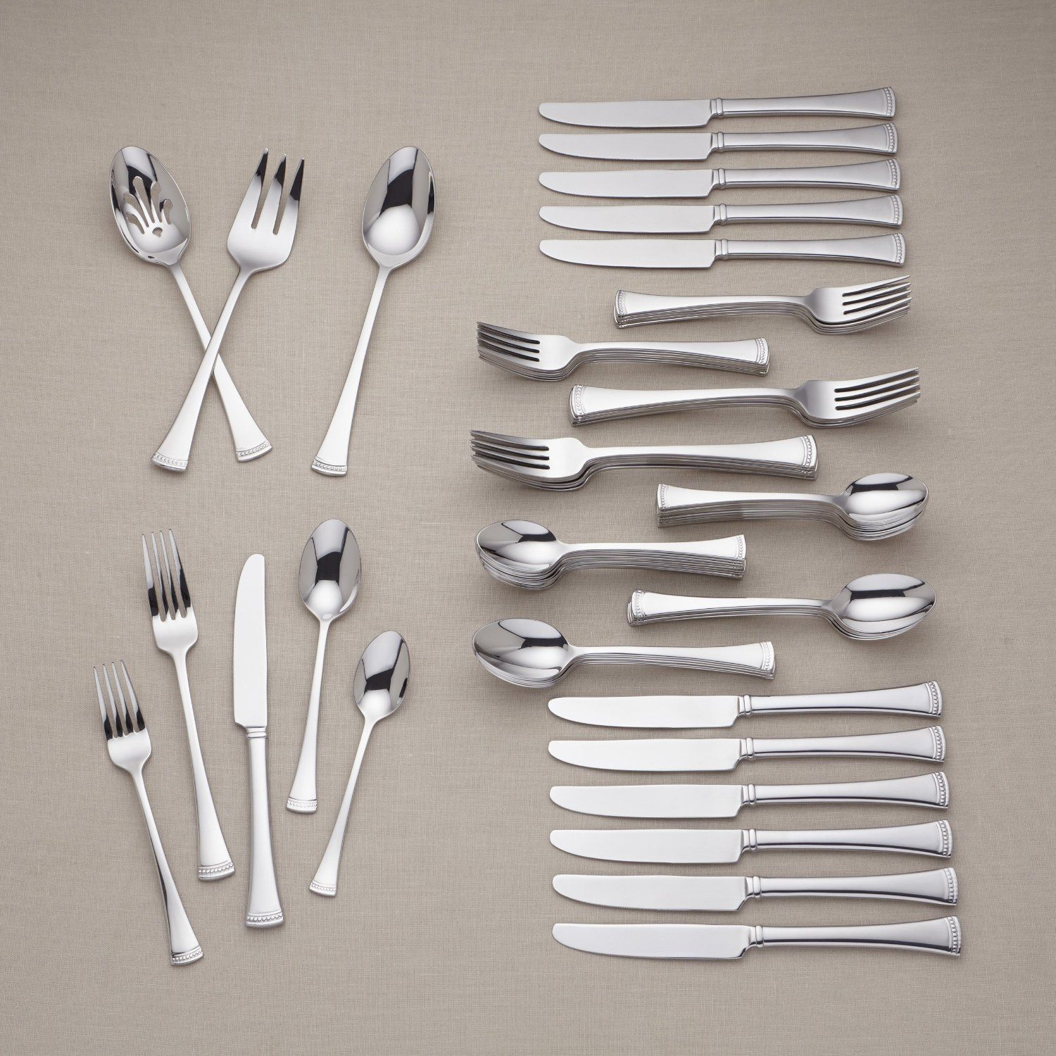 Lenox Brookfield 75 Piece 18 10 Stainless Flatware Set 12