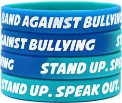 10 Band Against Bullying Wristbands - Anti Bully Bracelets - Child & Adu... - $14.99