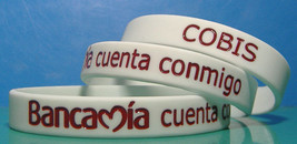 100 Custom Debossed Color Filled Wrist Bands (wristbands) Your Text and ... - $148.38