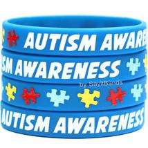 Set of 5 Austism Awareness Wristbands - Silicone Bracelets Bands - Show ... - $9.99