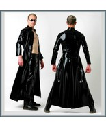 "Men's Matrix ""Wet Look"" Shiny Faux Latex Leather Coat Jacket and/or Add ... - £57.39 GBP+"