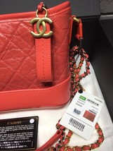 NWT AUTH Chanel 2019 Red Quilted Calfskin Small Gabrielle Hobo Bag GHW image 5