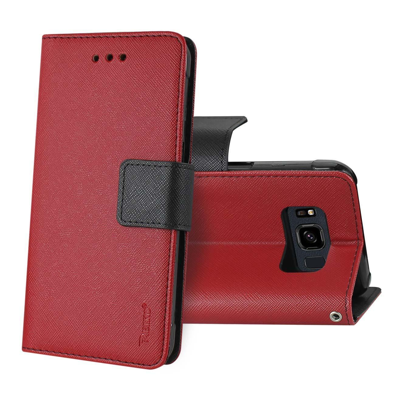 Reiko Samsung Galaxy S8 Active 3-in-1 Wallet Case In Red