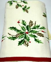 Christmas Lenox American by Design Bath Towel 1-Bardwil 100% Cotton Holl... - $12.87