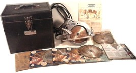 1960'S ERA Sears Craftsman Circular Saw METAL CASE 11 BLADES MANUAL WARR... - $94.45