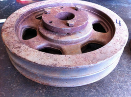 "11"" od .1.61"" bore shaft cast iron pulley double sheave for vee v belt - $35.00"