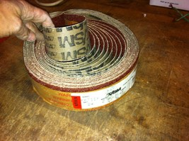 "one vitex Premium Abrasive Sanding Belt 2-1/2"" x 48"" A/O 24 grit germany - $3.26"