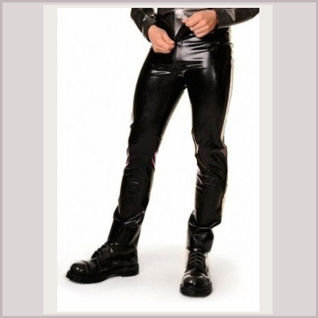 "Men's Matrix ""Wet Look"" Shiney Faux Latex Leather Coat Jacket and/or Add Pants"
