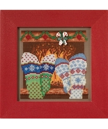 Cozy Feet 2017 Winter Series Buttons and Beads cross stitch kit  Mill Hil - $12.60