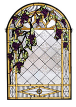 "Meyda Home Decorative 24""W X 36""H Diamond Stained Glass Window 1235-66048 - $721.80"