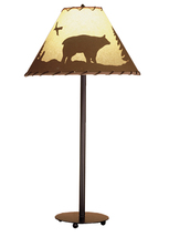 "Meyda Home Indoor 29""H Bear In The Woods Painted Table Lamp Bronze - 123... - $147.94"