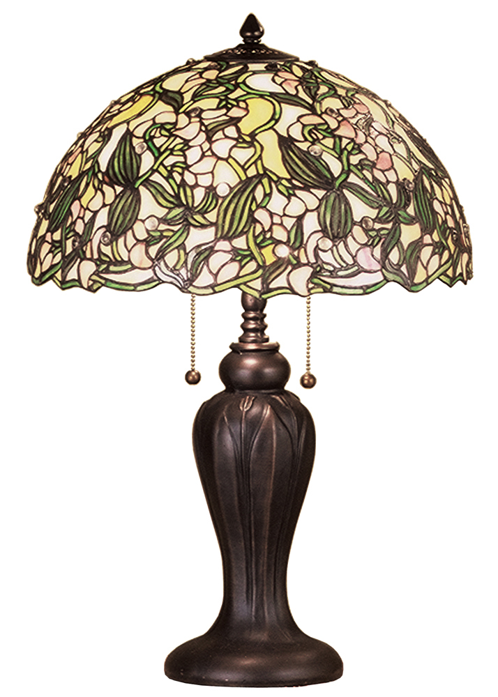 "Meyda Home Indoor Bedroom 24""H Sweet Pea Table Lamp Bronze - 1235-48622"