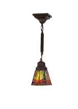 "Meyda 5""Sq Prairie Dragonfly Mini Pendant Lighting Ceiling Fixture - 123... - $223.02"