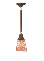 "1235-49134Meyda 5""Sq Glasgow Bungalow Mini Pendant Lighting Ceiling Fixture - 12 - $219.60"