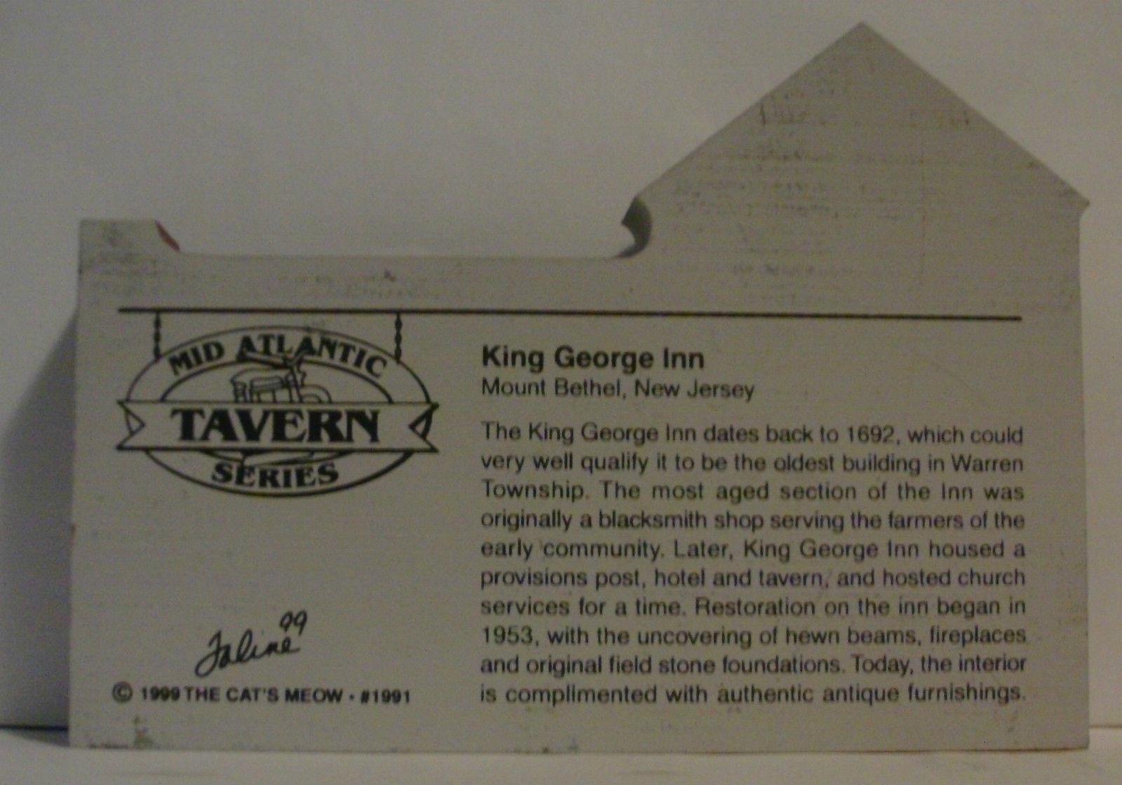 The Cats Meow Village 1999 Mid Atlantic Tavern Series King George Inn image 2