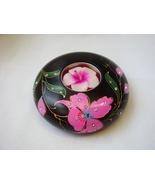 Thai Handmade Mango Wood Flower Crystal Round Candle Holder - $12.00