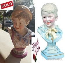 Bus Figurine Girl & Boy Victorian Blond Hair St... - $10.00
