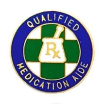 Qualified Medication Aide Lapel Pin  Graduation Recognition RX Medical 5029 New image 3