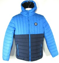 TIMBERLAND A1MZU-S62 MEN'S NAVY/BLUE QUILTED PUFFER lightweight HOODED J... - $80.09