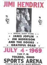 Jimi Hendrix July 4 1969 Vintage 11X17 Color Music Memorabilia Photo - $15.95