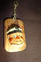 Vintage 1970s Era Sea Captain Skipper figurine Nautical Keychain Wood by... - $10.34