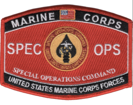 """4.5"""" MARINE CORPS MOS SPECIAL OPERATIONS COMMAND EMBROIDERED PATCH - $16.24"""