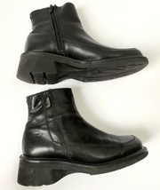 Dr martens womens size 4 black boots ankle zip up air cushioned sole Chelsea - $44.94