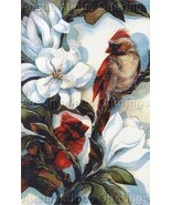 Bergsma Art Repro Bird Fantasy Cardinal Pair CrossStitch Kit - $69.99
