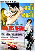 Elvis Presley and Ann-Margret in Viva Las Vegas Racing Cars Classic Art 24x18 Po - $23.99