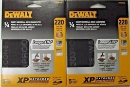 DEWALT DWAM4326 220 Grit 1/4 Sheet Mesh Sandpaper 2-5pks. (10 Sheets) - $2.97