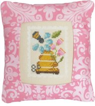 August 8 cent Special Delivery Postage Stamp pillow cross stitch kit Pine Mtn  - $16.20