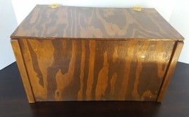 Vintage Primitive Wood Wooden Tool Box Rustic Carrier Tote Hand Made - $32.71