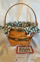 Longaberger 1994 Christmas Collection JINGLE BELL Green Basket Liner Pro... - $19.95