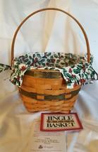 Longaberger 1994 Christmas Collection JINGLE BELL Green Basket Liner Pro... - $19.95