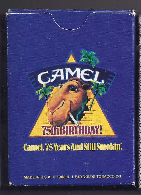 CAMEL 75th Birthday And Still Smokin' Playing Cards - $7.95