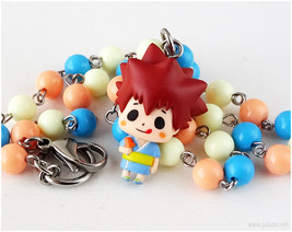 KHR Tsuna Figure Necklace, Anime Jewelry, Kawaii Jewelry, Japan - $26.00