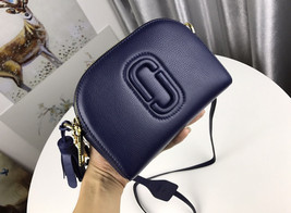 Marc Jacobs Shutter Camera Bag Shoulder Bag Leather Crossbody Navy Blue ... - $235.00