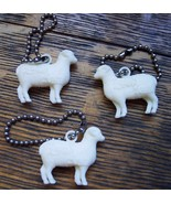 Lot of 3 Vintage LAMB KNIT Advertising Keychains  - $12.95