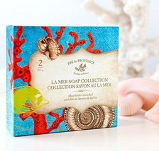 Pre De Provence La Mer Sea Shells French Soap Gift Box 100g x 2 Shea Butter - $14.99