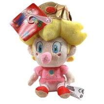 Nintendo Super Mario Brothers: Baby Peach 5 Inch Tall Plush Brand NEW! - $16.99