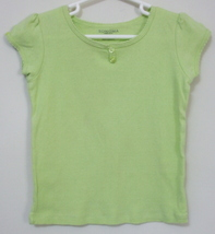 Girls Sonoma Lime Green Short Sleeve Top Size 5 - $3.95