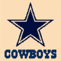 Latch Hook Rug Pattern Chart: DALLAS COWBOYS -EMAIL2u - $5.75