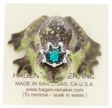 Hagen-Renaker Miniature Frog Prince Kissing Birthstone 05 May Emerald image 5