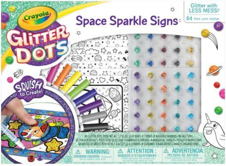 Crayola Glitter Dots - Space Sparkle Signs